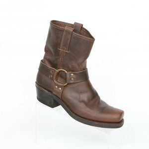 Frye Harness Motorcycle Riding Ankle Boots 9 M